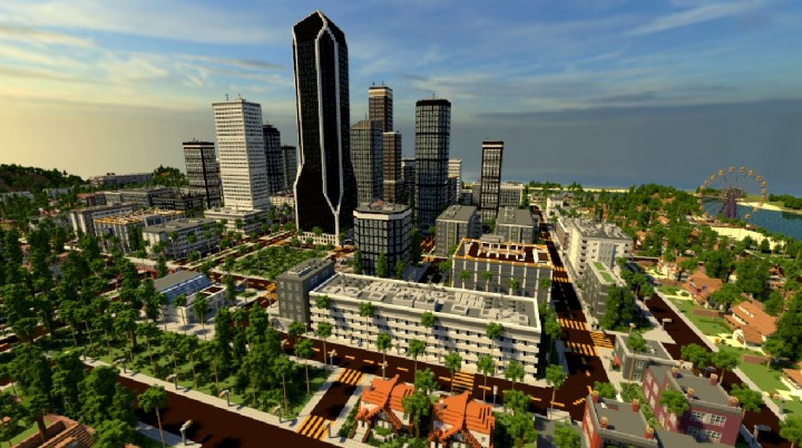 how to build a huge city in minecraft