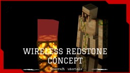 Minecraft wireless redstone concept - tutorial Minecraft Blog Post