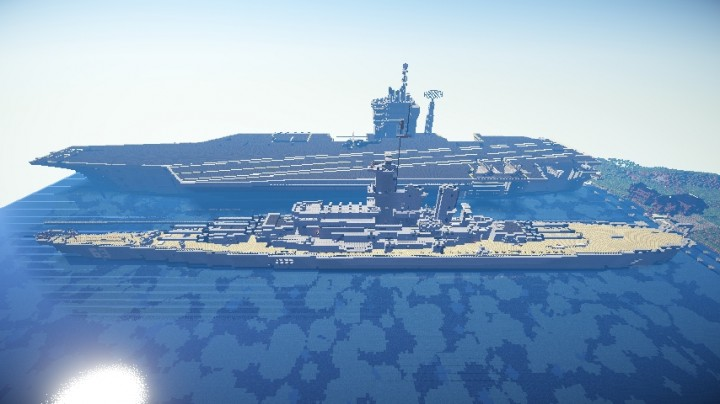 how to make the uss missouri in minecraft