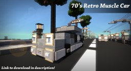 Retro Muscle Car Minecraft Map & Project