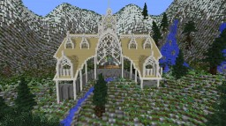 Elven Town inspired by LOTR and Rivendell Minecraft Map & Project