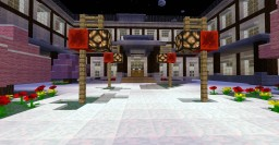 Japanese Highschool with Cherry Blossoms and the SOS Brigade Clubroom Minecraft Map & Project