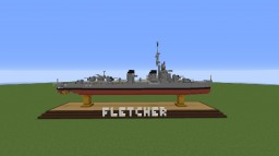 USS Fletcher- Destroyer Minecraft Map & Project