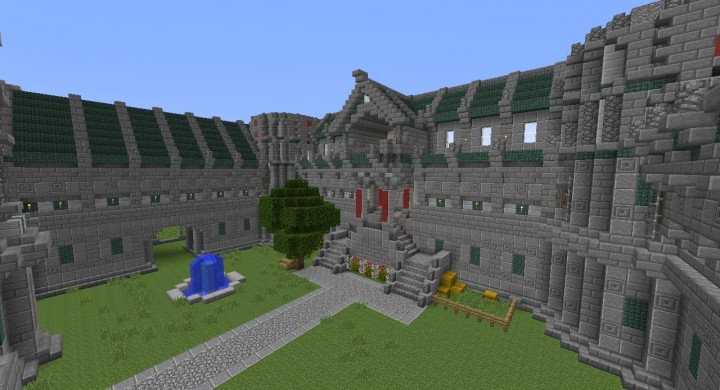 Heres another view of the courtyard