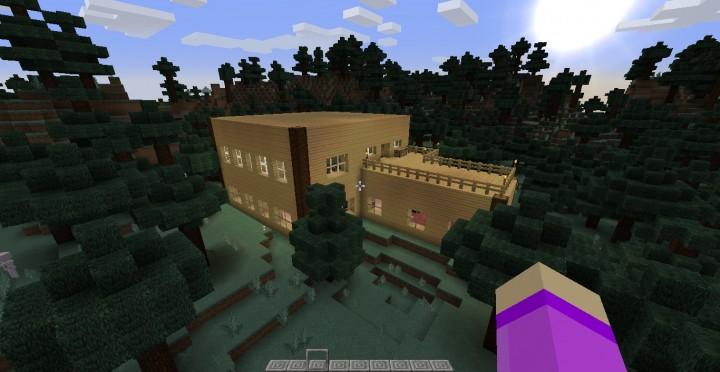 Birch wood house minecraft project