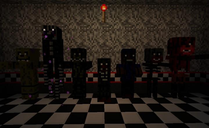 Zombie, enderman, zombie pigman, creeper, villager, skeleton, wither skeleton