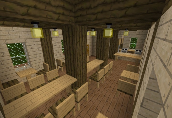 Prehistoric parck minecraft project for Salle a manger minecraft