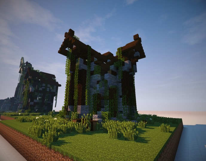 Medieval Village Building Ruins Minecraft Project