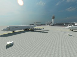 Fokker-100 Airplane Minecraft Map & Project
