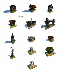 Medieval village buildings Minecraft Map & Project
