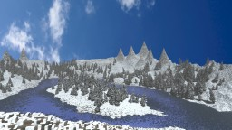Frosty Valley -A Winter Landscape- Trees, Lake, hills Minecraft Project