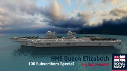 HMS Queen Elizabeth Aircraft Carrier (100 Subscribers)(POP REEL) Minecraft