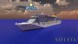 Costa Luminosa 1:1 Scale Real Cruise Ship (Download!) Minecraft Map & Project