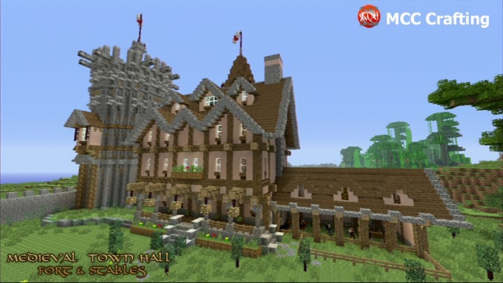 Medieval Town Hall, Pub, Hotel, Fort, Barn, Stables.