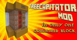 Treecapitator Mod in Vanilla Minecraft - ONLY ONE COMMAND Minecraft Blog Post