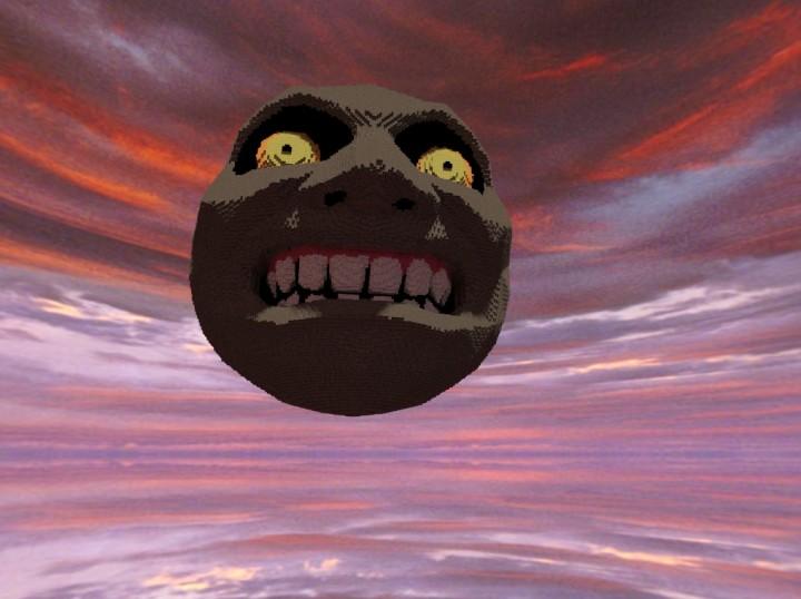 Majoras Mask Moon Giants Zelda - Majora�...