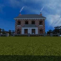 Victorian Four Square Duplex Minecraft Map & Project