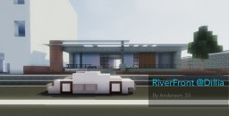 [40 Sub Special] RiverFront @Dillia | A modern house by Anderson_55 Minecraft Map & Project