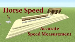 Tutorial : Horse Speed Test Minecraft Map & Project