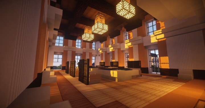 Projet architectural plassans minecraft project for Salle a manger minecraft