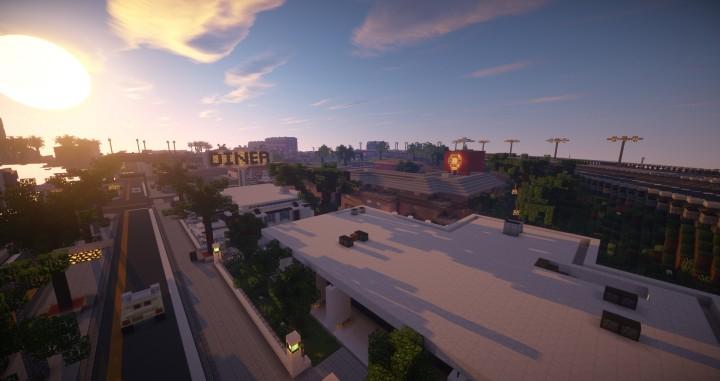A suburban area