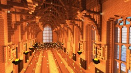 Great Hall of Hogwarts Minecraft Map & Project