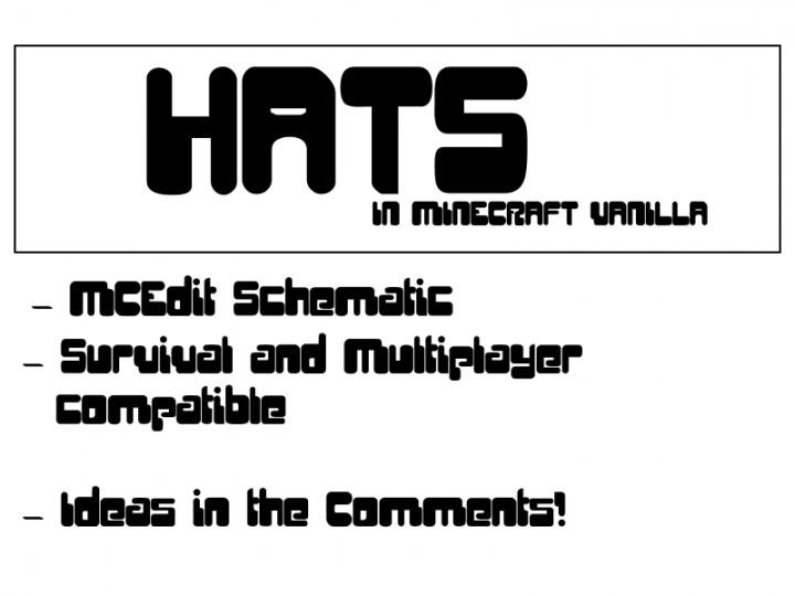 minecraft vanilla hats  mcedit schematic  minecraft project