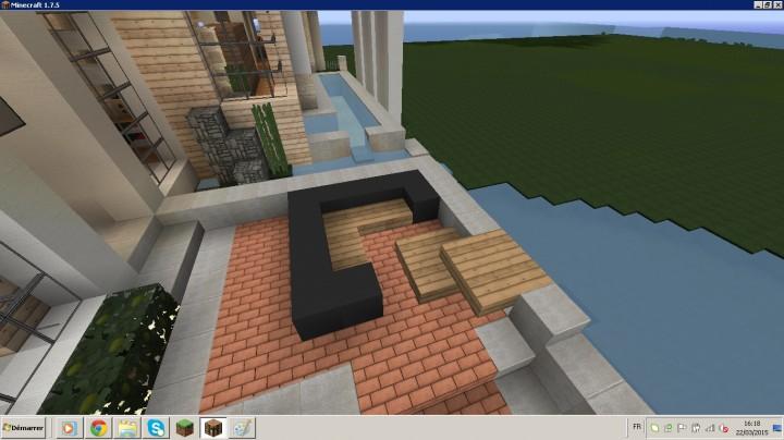 Maison moderne minecraft project for Minecraft maison moderne