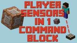 Player Detectors in 1 Command Block! Minecraft Map & Project