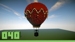 Large hot-air balloon Minecraft