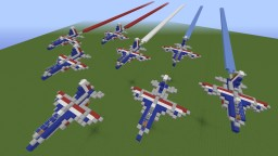 Patrouille de France - French Acrobatic Patrol Minecraft Map & Project