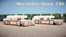 Mercedes-Benz 190 Minecraft Map & Project