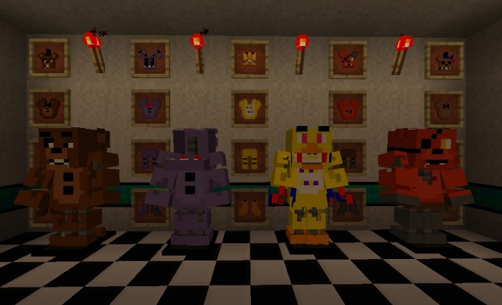 Five nights at freddy s 2 the texture pack minecraft texture pack