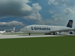 Airbus A380-900 Lufthansa Minecraft Map & Project
