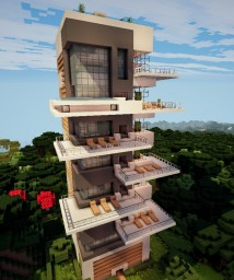 Modern appartements Minecraft