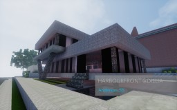 [50 Subs Speed Build] HarbourFront @Dillia | A Modern House By Anderson_55 Minecraft Map & Project