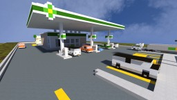 BP Gas Station - The Block Society Minecraft