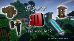Wolion 3D resource pack [1.8.x] [64px] [128px] (standalone) Minecraft