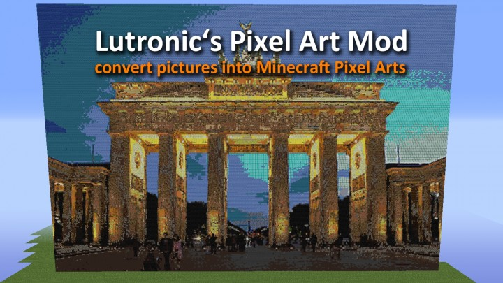 Lutronics Pixel Art Mod Convert Picture Into Minecraft