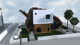 Acorn modern house Minecraft Project