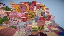 """A cinque terre """"Manarola"""" in Italy【Minecraft】"""