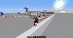 (MCA) Int. airport (now with monorails!!!) Minecraft