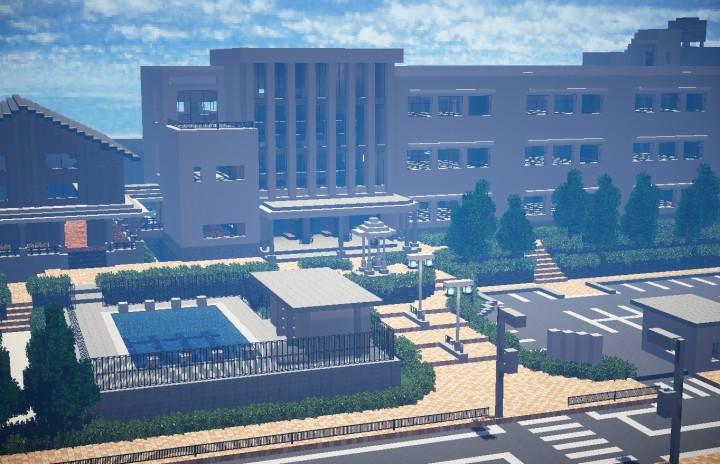 A Japanese High School Minecraft Project