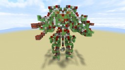 Colossus - Controllable Attack Robot [ No Command Blocks ] Minecraft Project