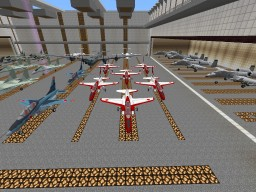 MUAF (Minecraft United Air Force) Base. W/Planes and Helis and Mess hall
