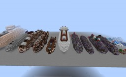 Movecraft Airship Museum - All Of My Ships So Far Minecraft