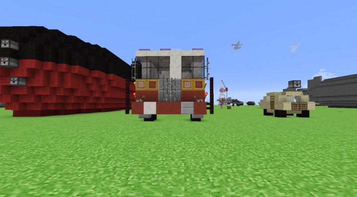 how to make a fire engine in minecraft