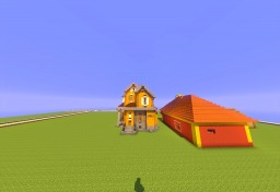 My first Traditional House (unfinished interior) Minecraft Map & Project