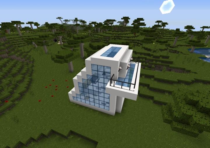 Small Futuristic House Minecraft Map