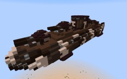 Functional Movecraft Air Warship Minecraft